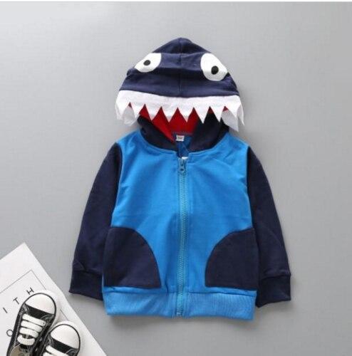 1-6 T Kind Baby Jungen Kleidung Outwear Shark Hoodie Mantel Mit Kapuze Zip Up Sweatshirt Pullover Jacke Gesundheit FöRdern Und Krankheiten Heilen