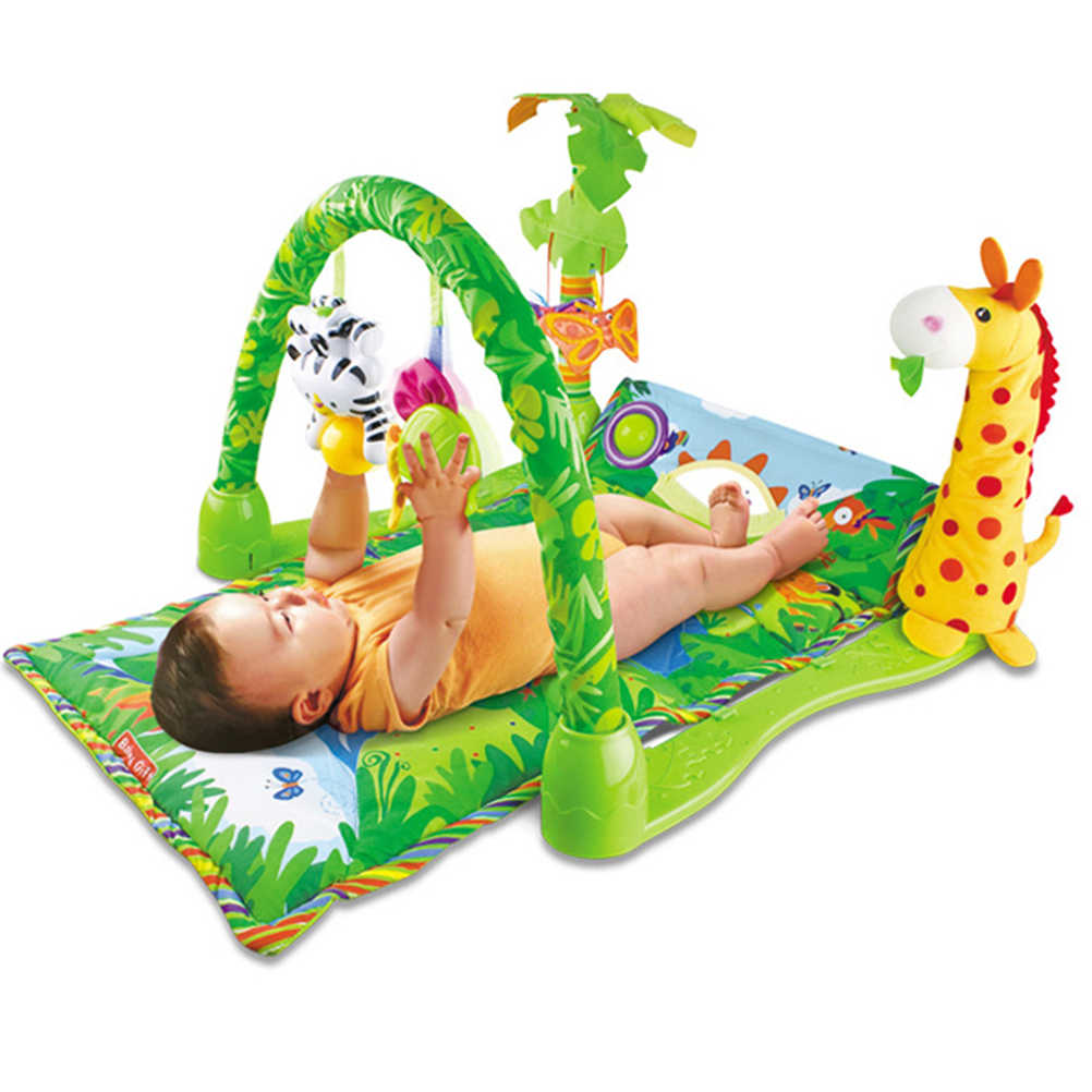1pc Baby Fitness Frame Educational Newborn Gym Soft Cartoon Fitness Rack Activity Gym Toy Crawling Mat Playmat
