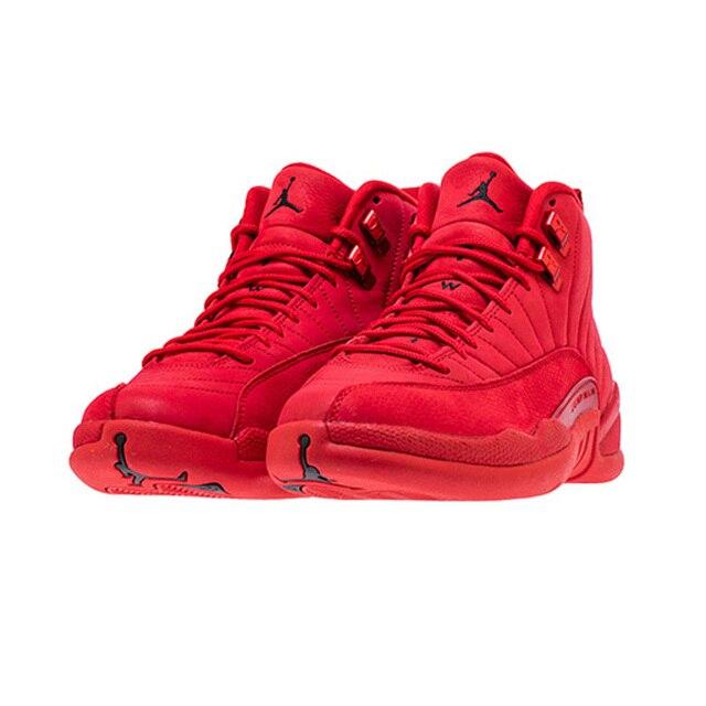 sports shoes 96612 c9d87 2019 Jordan Retro 12 Gym Red Basketball Shoes aj12 Bulls Michigan  University Blue College Ovo White Dark Grey Men Sport Sneakers