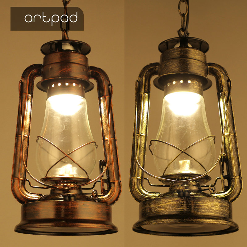 Artpad Outdoor Waterproof Industrial Style Pendant Lighting for Restaurant Bar Cloth Shop Glass Kerosene Lantern Pendant LightArtpad Outdoor Waterproof Industrial Style Pendant Lighting for Restaurant Bar Cloth Shop Glass Kerosene Lantern Pendant Light