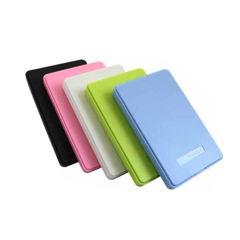 "5 Colors 2.5"" USB 2.0 SATA HD Box 1TB HDD Hard Drive External Enclosure Case Support Up To 2TB Data Transfer Backup Tool For PC"