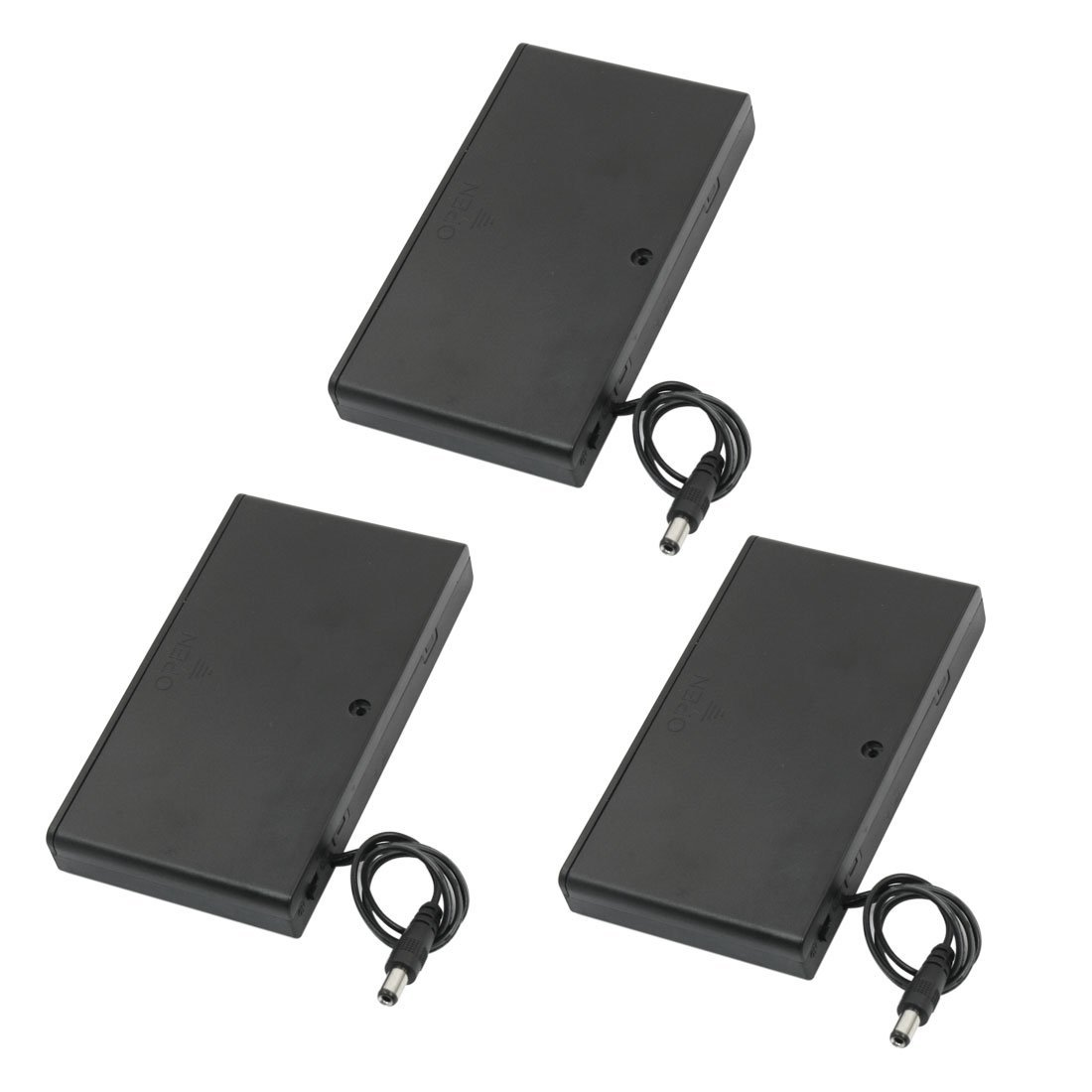 3pcs 2.1mm x 5.5mm Male Plug 8 x 1.5V AA Battery Holder Case Cell Box Battery Storage Boxes    - title=