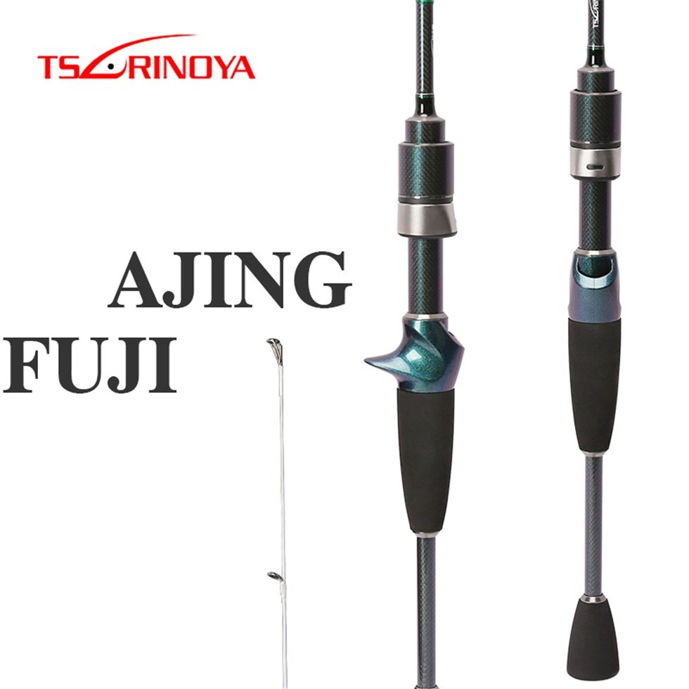 TSURINOYA 1 89m UL FUJI Accessories Slow Action Fishing Casting Rod 2 Section Ultra Light Portable