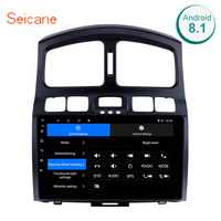 Seicane 10.1 Android 8.1 2Din Car Radio GPS Multimedia Player Head Unit For 2005 2006 2007 2008 2015 Hyundai Classic Santa Fe