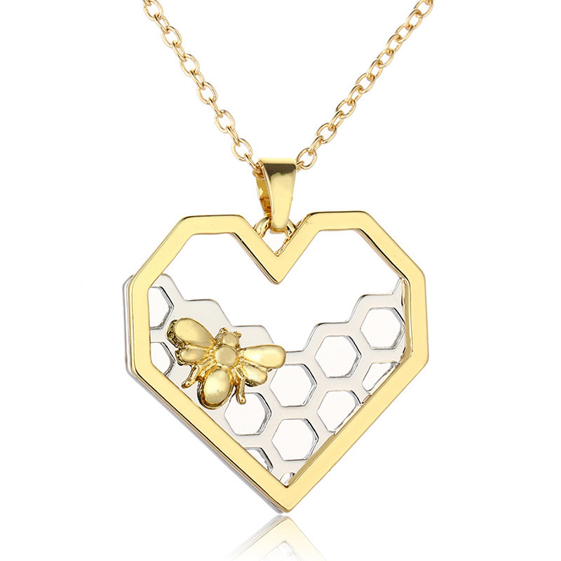 Exquisite Fashion Two Color Peach Hearts Hive Necklace Accessories Goods In Stock CAR583 xiangl colar jewelry choker boho