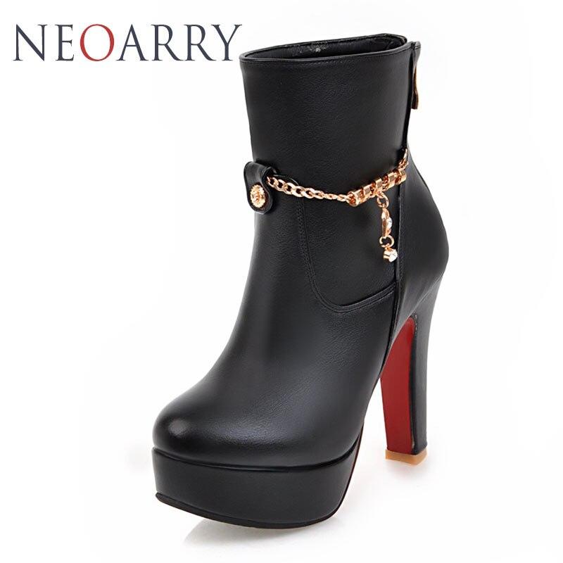 Cheville Neoarry Talons Haute Chaussures Parti Bottes Épais Mode Femme Noir De Bout forme blanc Rond Plate Martin Du rouge Taille Mariage Grande Moto fgq6gWxwr