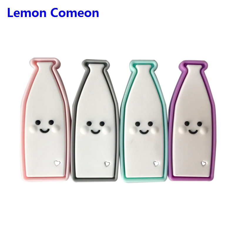 Lemon Comeon 1pc Silicone Beads Bottle Baby Nursing DIY Pacifier Chain Chewing BPA Free Teething Accessories Baby Teether