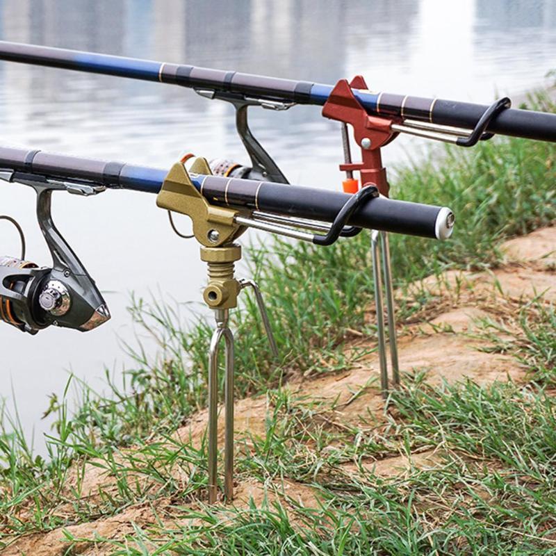 Ângulo Universal Suporte Suporte Suporte de Liga de Alumínio Vara De Pesca Vara De Pesca Ajustável Stents Titular Suporte De Vara de Pesca