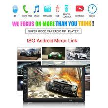7-дюймовый 2 DIN Автомобильный Cam Авто Радио Стерео Bluetooth MP5 игрока вздрагивания BT 4,0 радио камера заднего вида ссылку для Ios и Android