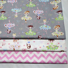 Dancing Girl Baby Cotton Quilting Fabric by half meter for DIY sewing patchwork fabric sheet