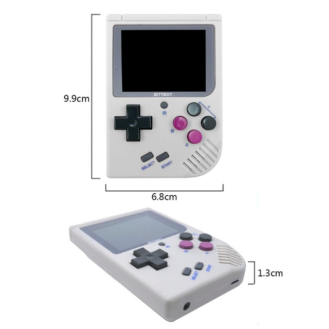 Game Console, BittBoy V3.5+8GB+Protective Pocket Bags, retro console, Handheld game players