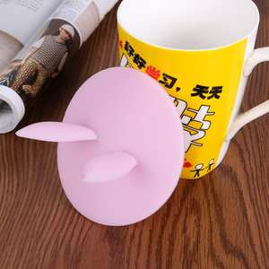 Rabbit Ear Dustproof Reusable Cover Lid Silicone Suction