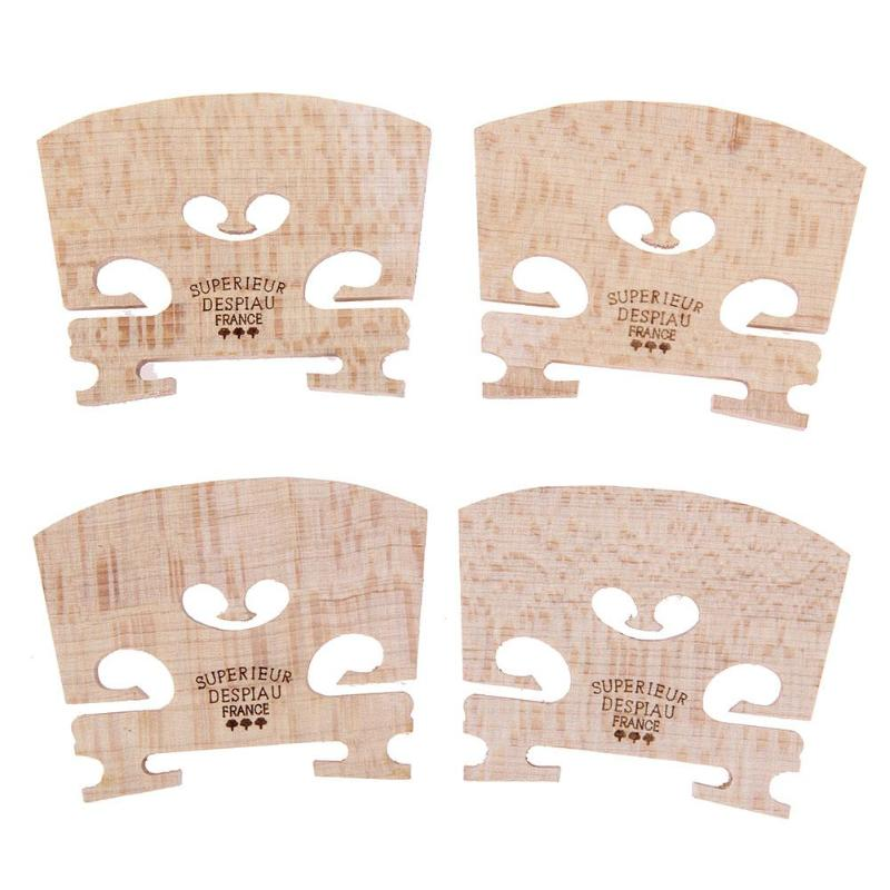 4pcs Violin Bridges Fiddle Maple Wood for 4/4-3/4 Size Instrument Accessories Violin Strings Bridge Part Tools