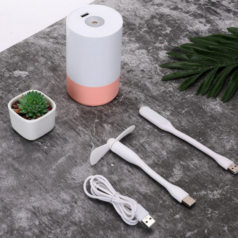 Multifunctional USB Charge Humidifier Mute Bedroom Cute Mini Fragrance Home Use Air Hydrating Spray Humidifier With Fan 29