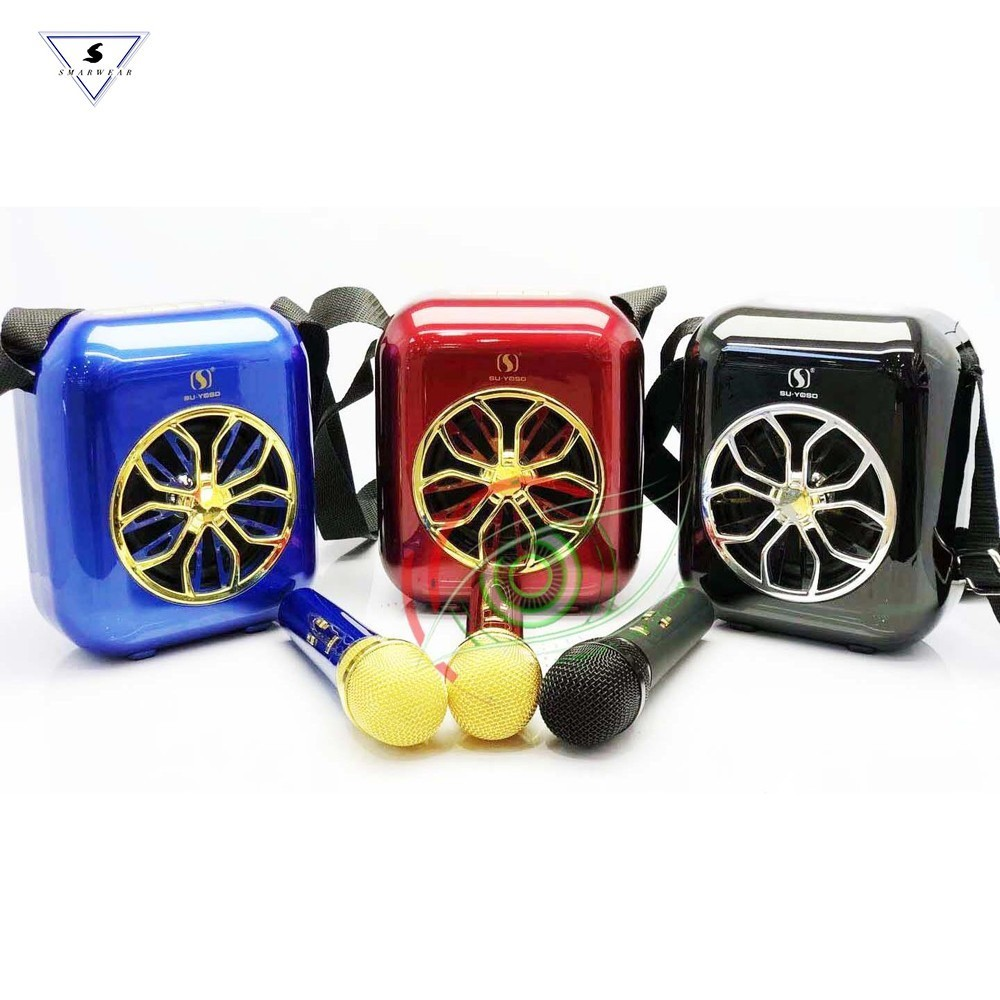 Bluetooth 2 pcs microphones with Speaker mini easy carrying karaoke set outdoor activity AWESOME SOUND luxurious