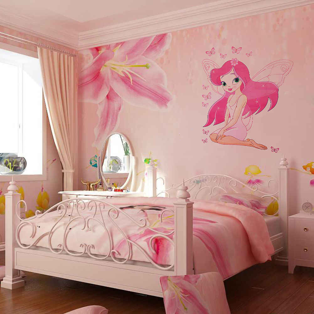 Home Decor Fairy Princess Butterly Decals Vinyl Art Mural Wall Sticker Kids Girl Room Decor Painting Calligraphy Aliexpress
