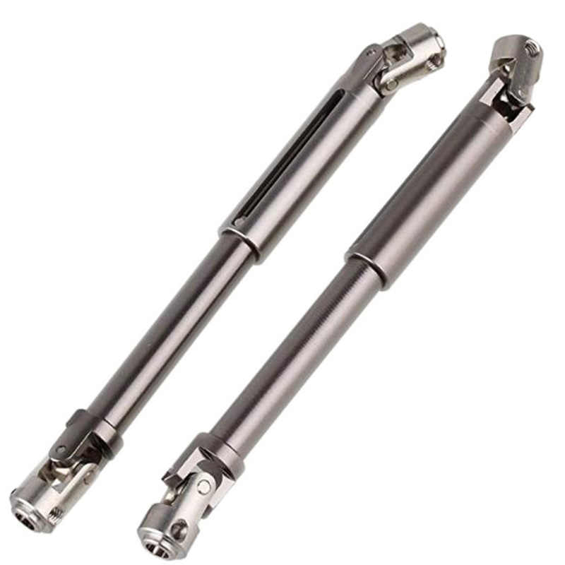 CATS 2pcs Scx10 Steel Universal Drive Shaft With Cvd 90-115mm For 1/10 Scale Models Rc Car Axial Crawler Tf2 Trx4