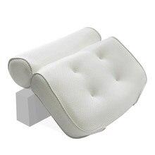 1b9ba3a191ddfd 3D Air Soft poduszka do kąpieli siatki wanna poduszki potężny przyssawki  antypoślizgowe łazienka SPA poduszka wanna powrót wspar.