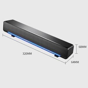 Image 5 - SADA الكمبيوتر مكبر صوت USB السلكية المتكلم بار مضخم صوت ستيريو مشغل موسيقى باس الصوت المحيطي 3.5 مللي متر إدخال الصوت للكمبيوتر المحمول