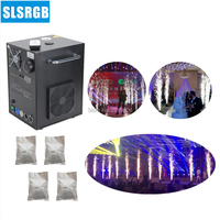 400W Cold Spark Fireworks And 4 Bags Powder Remote DMX Control Stage Sparkular Machine For Wedding Celebration Party and stage
