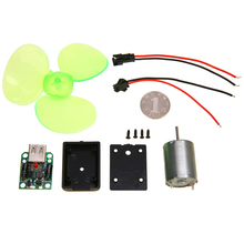 1 set Mini Wind Electric Generator Turbine Motor Emergency Phone Charger Small Power Alternator DIY Kits