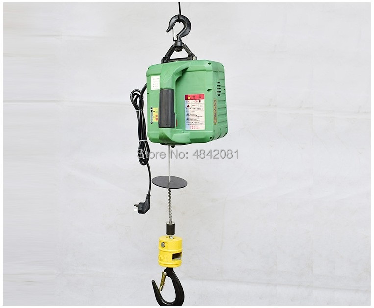 300KGS Portable Electric hoist winch remote control traction hoist small mini crane 220V/110V