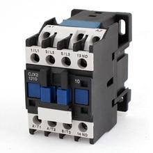 3-фазный двигатель магнитный контактор реле 12A 3 P 3-полюсный 1NO AC 24 V 110 V 220 вольт 380 V Катушка CJX2-1210 35 мм Din рейка монтаж