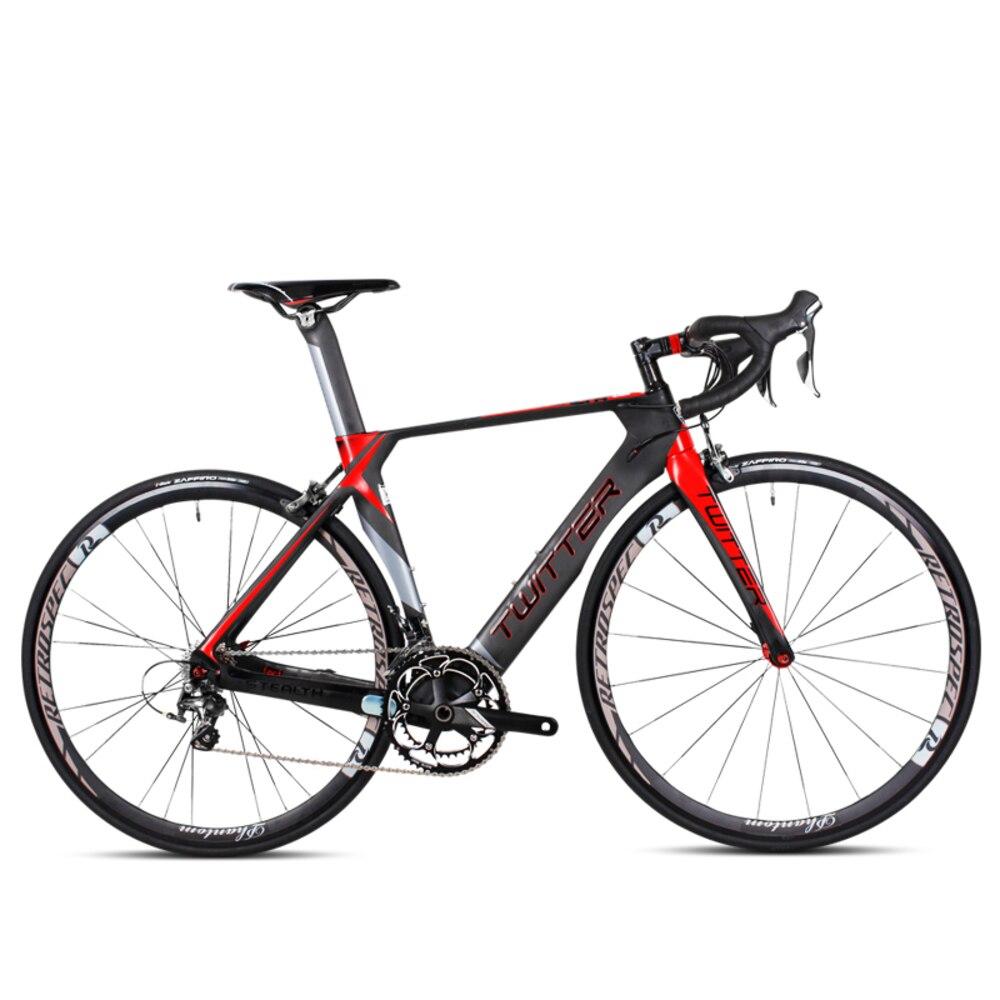 Free Shipping Lightweight Carbon Fibre Fork And Frame Road Bike 20 Speeds V Brake Transmission Outside Japan Racing 700c