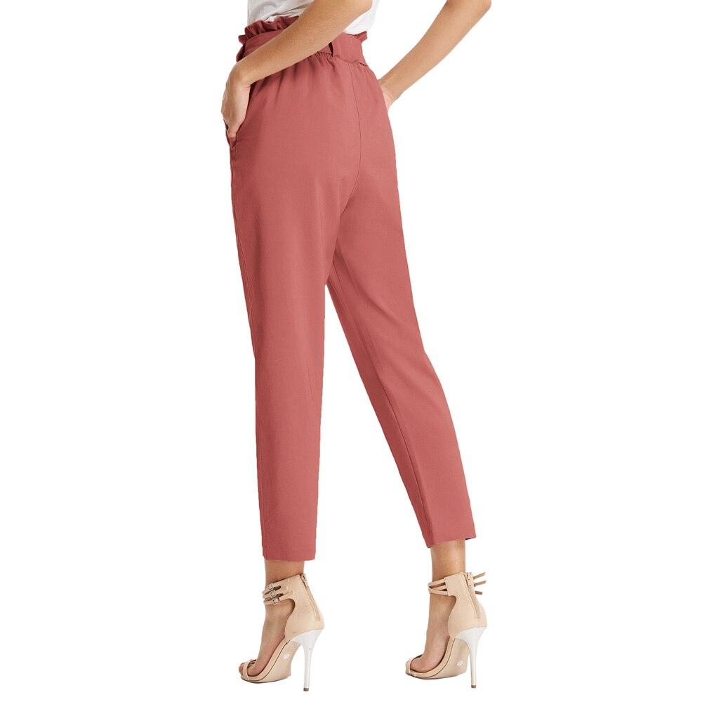 Fashion Womens Casual Harem   Pants   Elastic High Waist   Capri   Cropped 3/4 Trousers