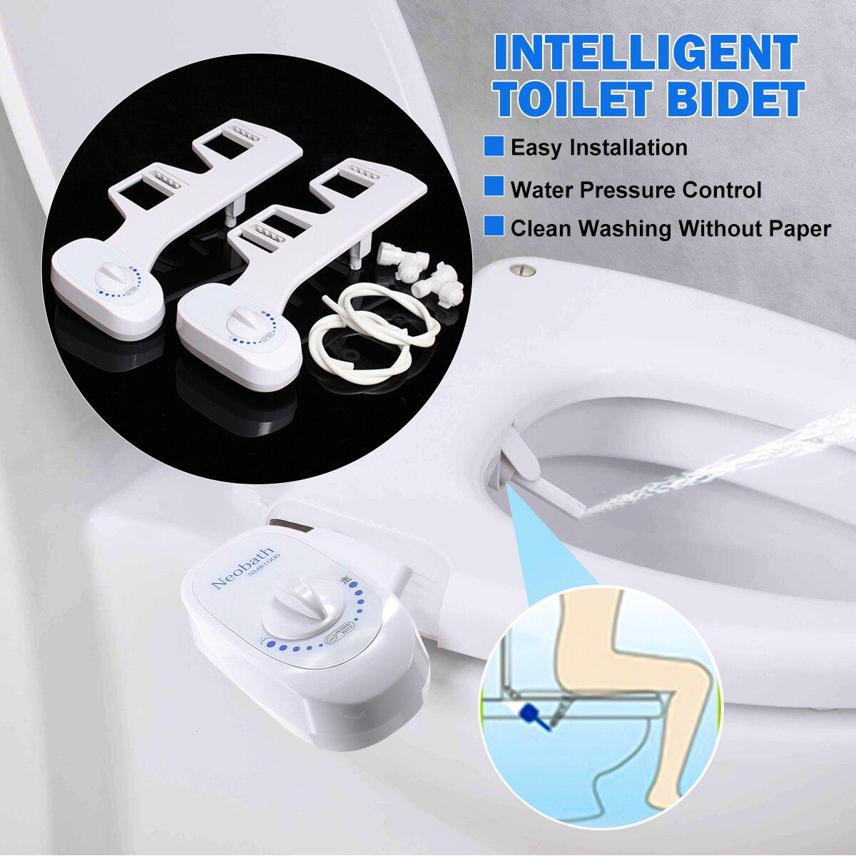 Cold Water Non-Electric Single Nozzle Bathroom Toilet Seat Bidet Sprayer Adjustable Sprayer Nozzle Sprinkle  1/2''  15/16''