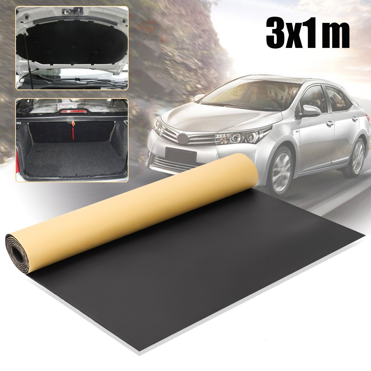 1 m x 3 m rouleau 6mm voiture insonorisation Van à cellules fermées isolation mousse Mat accessoires intérieurs