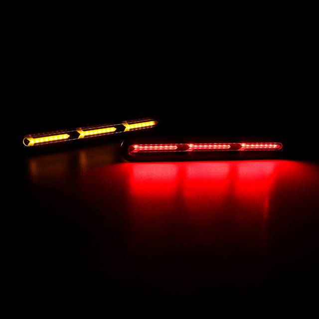 Pair Car Third Brake Light High Mount Stop Rear Tail Lamp Universal 3 IN 1 Consequential Flowing Turn Signal Light Indicators