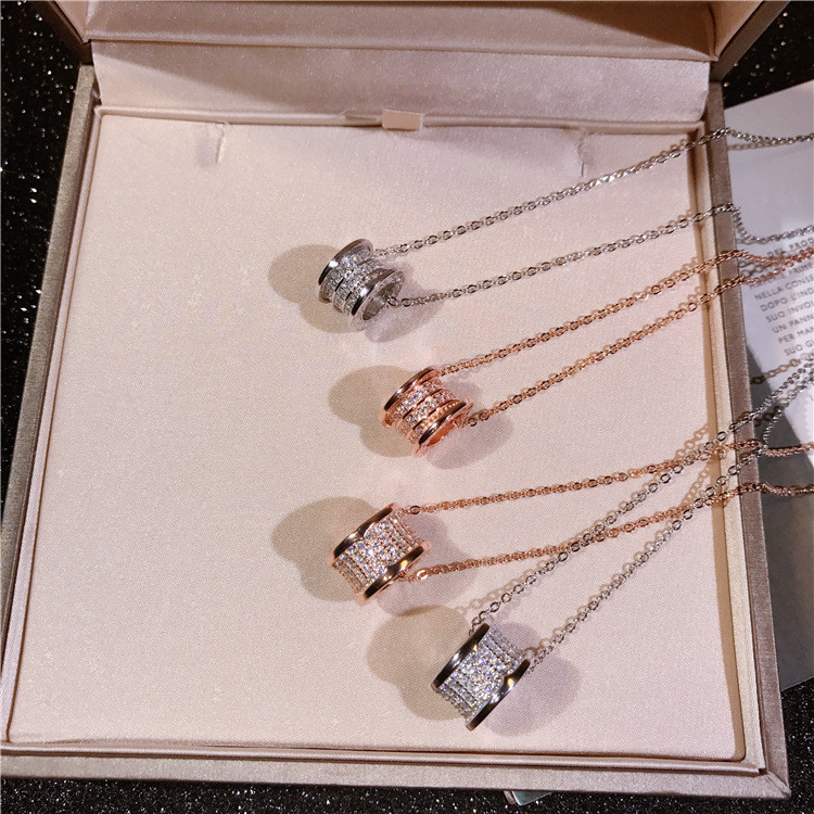 Quality Pure 925 Sterling Silver Women Statement Necklace Hot Collar Fashion Designer Full Zircon Decorative Twisted