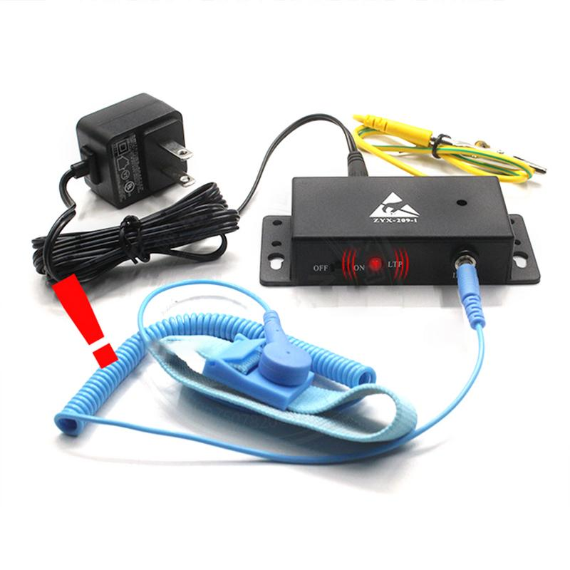 Auto-alarm Anti Static ESD Wrist Strap Tester One Output Anti-static Online Monitor For Anti-static Electronic #35