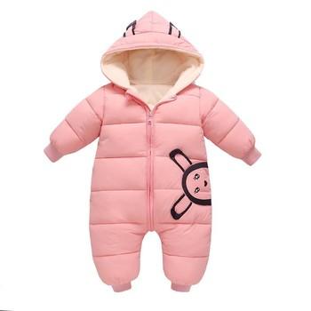 01e2e5094e16a 2018 Overalls Winter Jumpsuit Baby Newborn Plus velvet snowsuit Snow Wear  Coat Boy Warm Romper down