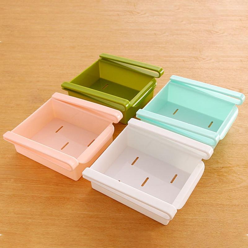 Freezer Fridge Storage Box Case Kitchen Organizer Shelf Space Saver Drawer Rack