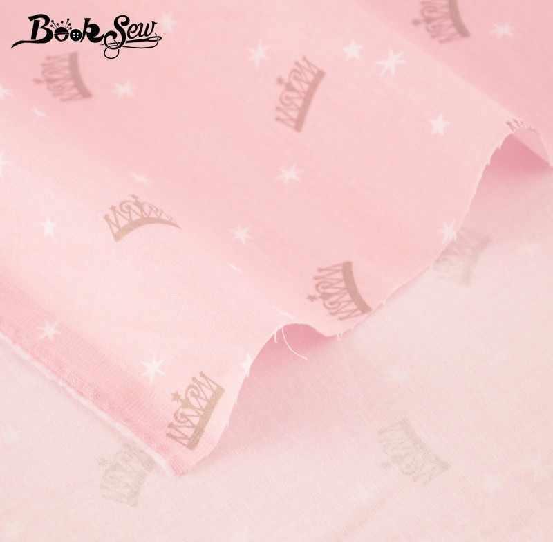 Booksew 100% Baumwolle Twill Stoff Hause Tuch Royal Crown Tecido Tissu Quilten Bettlaken Baby Kissen Nähen Patchwork Puppe Handwerk