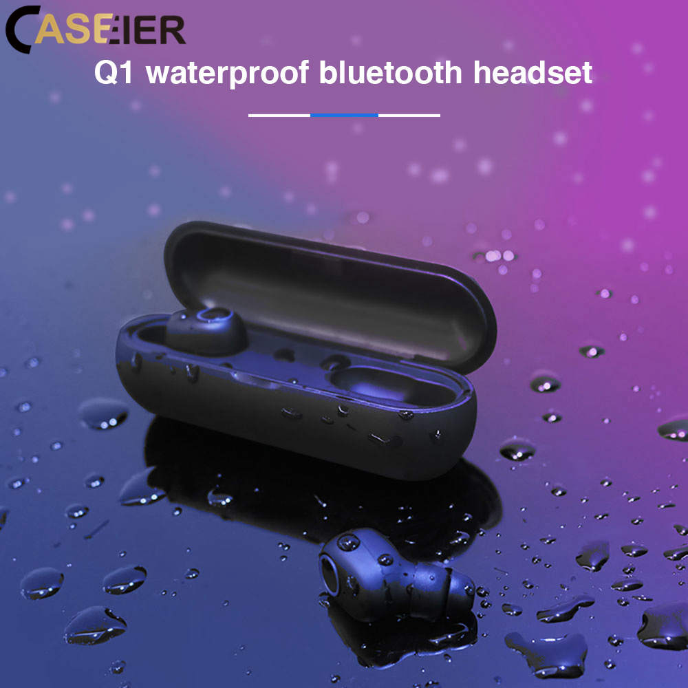 CASEIER TWS Wireless Bluetooth Sport Earphone 5.0 Above Headset With Charging Box Game Waterproof Earphone For iPhone XR 7 8