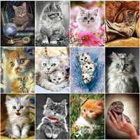 EverShine Diamant Malerei Katze Diamant Stickerei Volle Display Bild Von Strass Diamant Mosaik Tiere Perlen Kunst