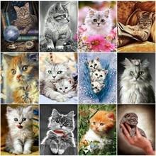 EverShine Diamond Painting Cat Embroidery Full Display Picture Of Rhinestones Mosaic Animals Beads Art