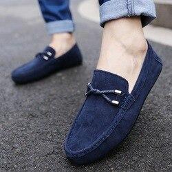 Upuper primavera verão novos mocassins masculinos confortáveis sapatos casuais planos respirável deslizamento em couro macio sapatos de condução mocassins