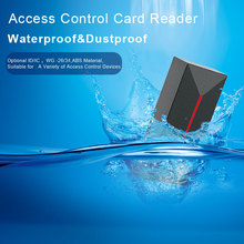 Proximity Card Access Control Reader 13.56MHZ/125KHZ Door Access Control WG26/34 EM IP68 Waterproof Long Range RFID Card Reader free ship by dhl elevator access control set 40 lift floors controller power case free rfid reader 10pcs em card sn dt40 set