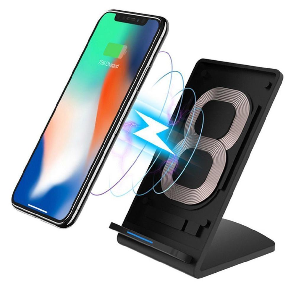 Wholesale New Universal 10W Qi-Enabled Fast Charging Wireless Charger Cell Phone Holder Stand