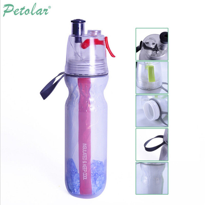 Protable Sports Water Bottle With Straw Drink Spray Cup Hiking Cycling Tool MM