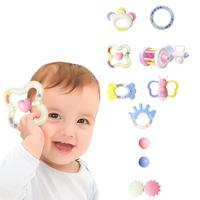 10pcs Baby Rattles Educational Baby Toys 0 12 Months Teether Music Hand Shake Bed Toys Newborn Plastic Animal Rattles Toy O3