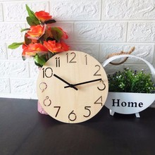 New Wall Clocks Wooden Clock Creative European Modern DIY Home Electronic Design Decoration For