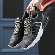2019 New Man air cushion Sneakers  for Men Black Running Shoes Jogging Walk Breathable Mesh Sport Male Footwear Trainer