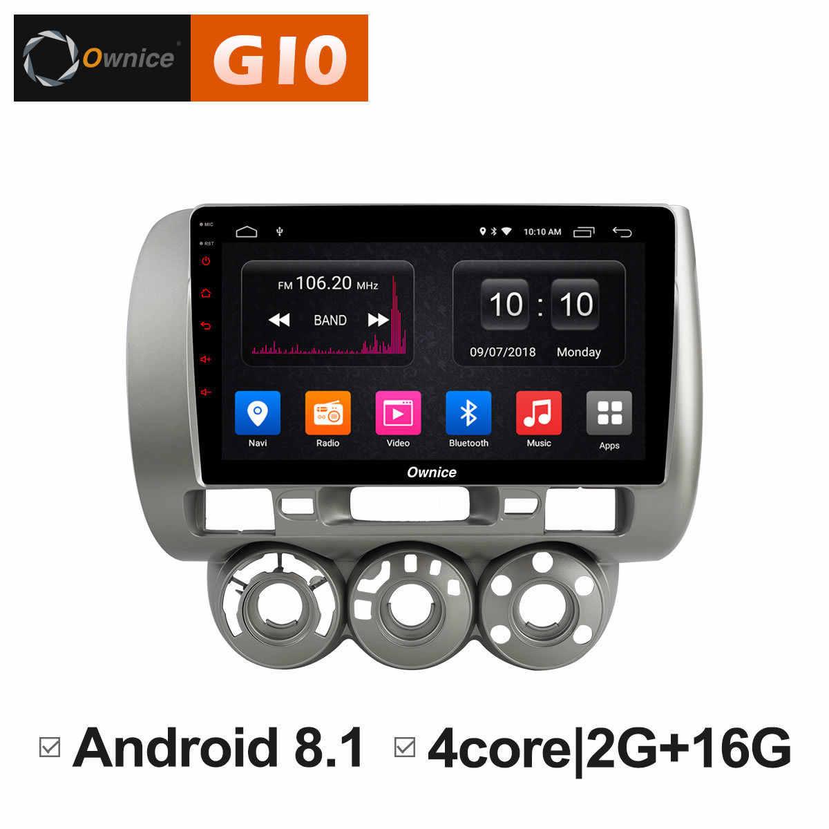 Ownice C500 + G10 IPS Android 8.1 Auto DVD Multimedia Speler GPS Voor honda Fit jazz 2004 2005 2006 2007 radio stereo navigatie