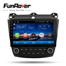 "Funrover Car Multimedia player 10.1 ""Android 8.0 2 din Car DVD radio gps per Honda Accord 7 2003- 2007 wifi di navigazione GPS RDS BT"