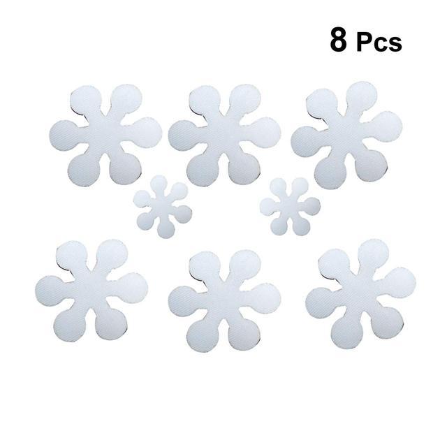 8 pz/set Pratico Antiscivolo Creativo di Modo di Fiocco di Neve Forma di Anti-sl